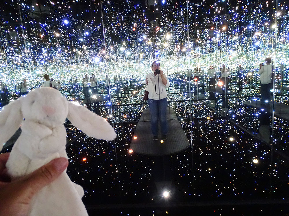 Infinity Mirrored Room by Yayoi Kusama at The Broad, LA.