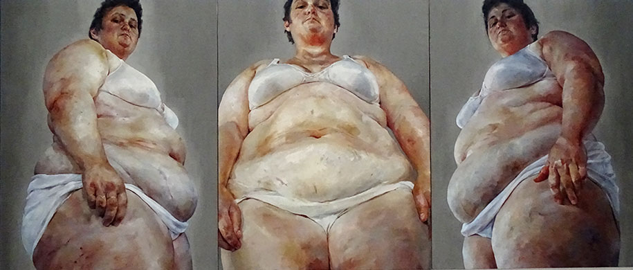 Strategy by Jenny Saville at The Broad, LA.
