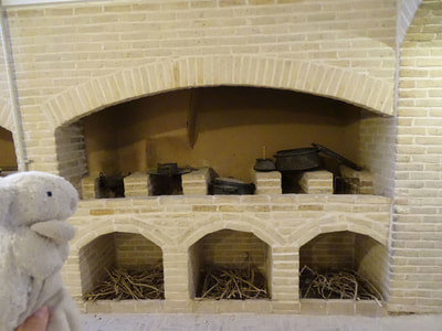 Traditional Persian stonewall stove at the Markar Museum in Yazd