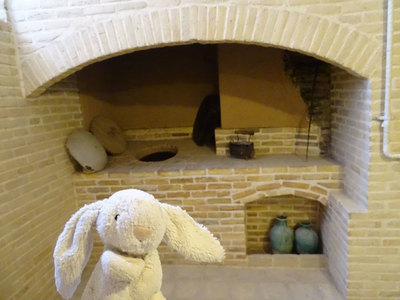 Traditional Persian stonewall oven at the Markar Museum in Yazd
