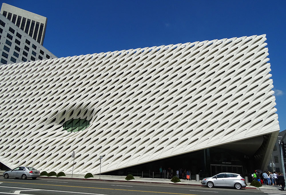 The Broad contemporary art museum in Los Angeles.