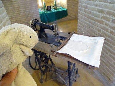 Old sewing machine on display at Markar Museum