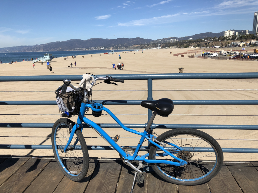 Rabbit's bike at Santa Monica Pier.
