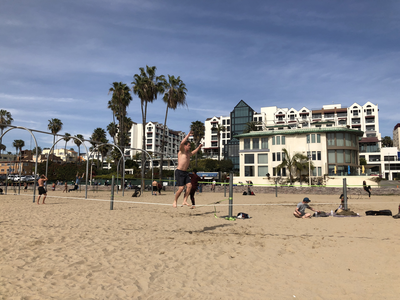 Muscle Beach in Santa Monica.