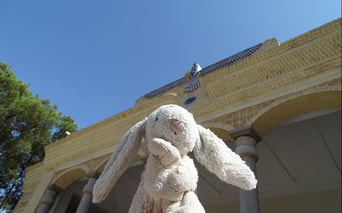 Zoroastrian Fire Temple in Yazd with Leo's Rabbit.