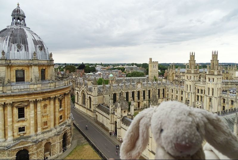 Oxford City view from atop church tower.